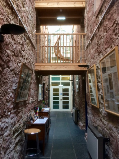 The entrance hall to The Old Brewery in Cromarty